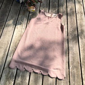 Betsey's Boutique Shop Tan Scalloped Mini Dress XL